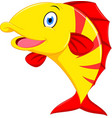 happy fish cartoon vector image