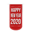 happy new year 2020 banner design vector image