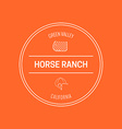 Horse Label vector image vector image