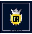 initial letter ga logo template design vector image