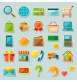 Internet shopping sticker icon set vector image