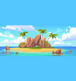 island in ocean uninhabited isle with sandy beach vector image