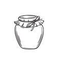 jar of honey or glass jar vector image