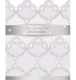 lace card delicate handmade ornament vector image vector image