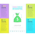 money bag bright infographic template with vector image