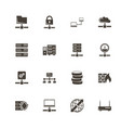 network servers - flat icons vector image vector image