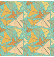 Pattern with beautiful origami butterflies drawing vector image vector image