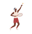 professional male big tennis player hold rocket vector image vector image
