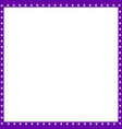 purple and white square frame made of animal paw vector image vector image