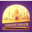 Ramadan Kareem Mosque vector image vector image