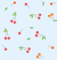 red cherries seamless pattern vector image