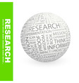 RESEARCH vector image vector image