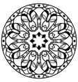 round floral mandala isolated on white vector image vector image