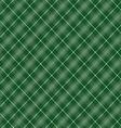 Seamless cross green shading diagonal pattern vector image