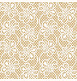 seamless flower lace pattern on beige background vector image