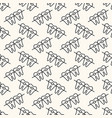 seamless geometric pattern teeth vector image vector image