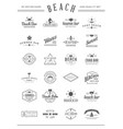 set beach sea bar elements and summer can be vector image vector image