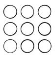 Set hand drawn square vector image vector image