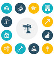 set of 13 editable structure icons includes vector image
