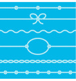 Set of rope borders vector image vector image
