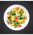 Shrimp salad vector image