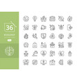 simple set of eco icons vector image vector image