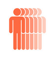 six human sign people symbol vector image vector image