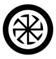 slavic slavonis symbol kolovrat sign sun icon vector image vector image