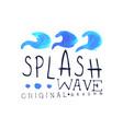 splash wave logo water design element abstract vector image