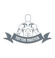 tattoo master logo simple gray style vector image