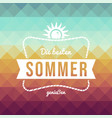 vintage german summer vacation greeting card vector image vector image