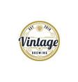 vintage retro beer brewing brewery hop label logo vector image