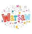 Warsaw typography lettering design vector image vector image