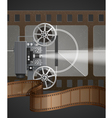 With Movie Projector vector image vector image