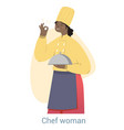 woman chef concept vector image