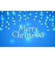 Christmas holidays garlands light vector image
