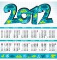 2012 new year calendar vector image