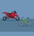 color background with modern motorcycle and vector image
