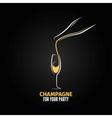 champagne glass bottle design background