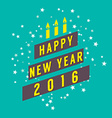 Abstract 2016 New Year Card vector image vector image