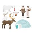 alaska state symbols flat style america vector image vector image