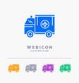 ambulance truck medical help van 5 color glyph vector image vector image