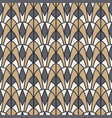 art deco geometric seamless pattern gold and gray vector image