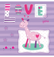 Baby background with cute giraffe vector image vector image