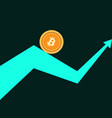 bitcoin index rating trend up arrow vector image vector image