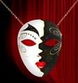 blackwhite carnival mask vector image vector image