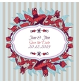 Bright invitation with floral pomegranate ornament vector image vector image