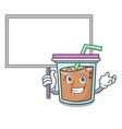 bring board bubble tea character cartoon vector image vector image