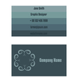 Business card design vector image vector image