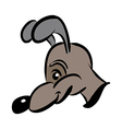 cartoon style dog in brown vector image vector image